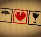 Valentine vecteur brisé le coeur — Vecteur