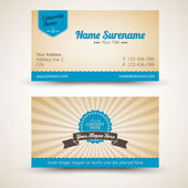 Vector old-style retro vintage business card — Vetor de Stock
