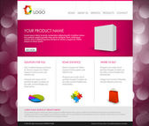 Vector Modern product homepage template — Stock Vector