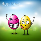 Vector Funny easter eggs - Happy Easter Card — Stock Vector