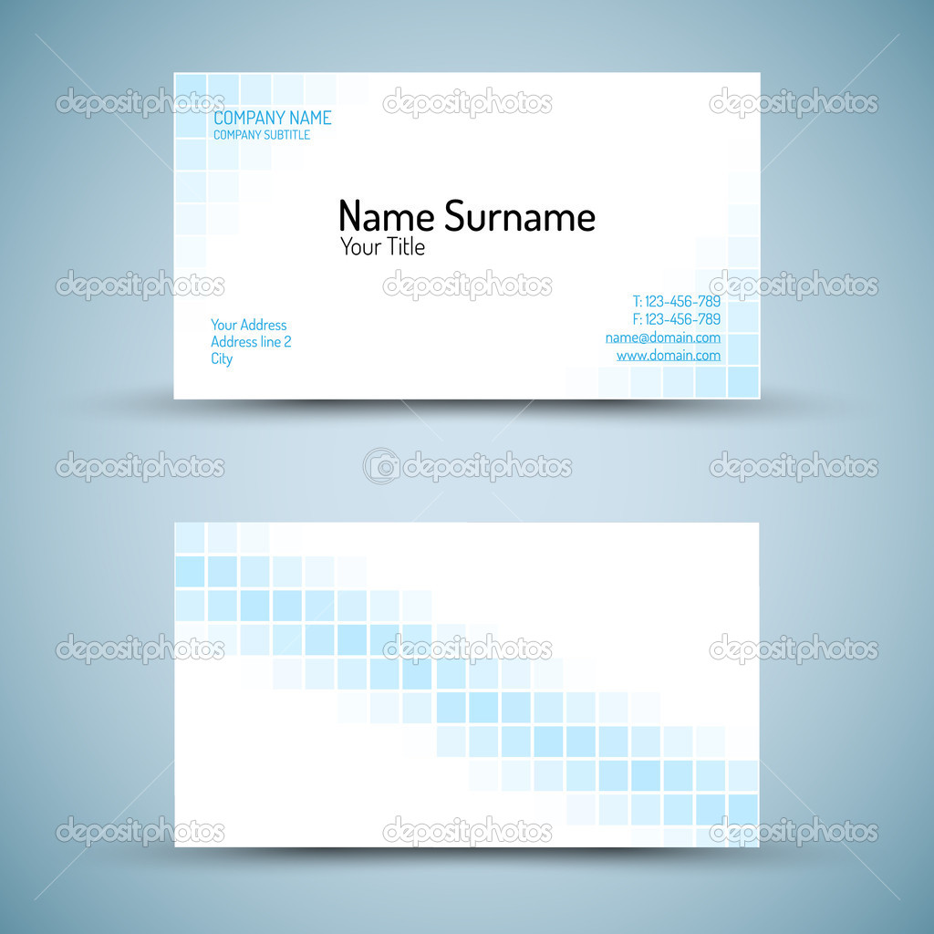 Set of modern vector business card template — Stock Vector © orson ...