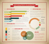 Conjunto de grande vetor de elementos infográfico — Vetorial Stock