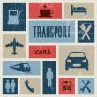 Vector vintage transport (traffic) poster — Stock Vector