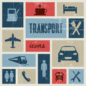 Vektor, vinobraní, doprava (dopravní) poster — Stock vektor