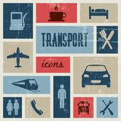 Vettore vendemmia di trasporto (traffico) poster — Vettoriale Stock