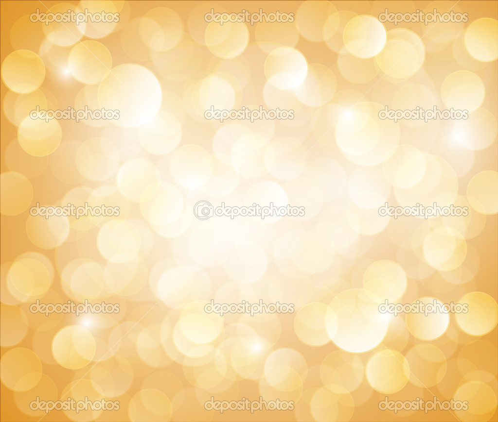 Sunny Yellow Vector bokeh background made from white lights — Stock Vector #8985592