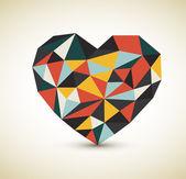 Vecteur coeur rétro — Vecteur