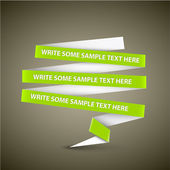Vector Green speech bubble made from paper stripe — Stock Vector