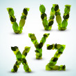 Stockvector : Vector alphabet letters made from leafs