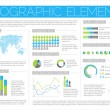 Big Vector set of Infographic elements — ベクター素材ストック