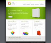 Modèle de page d'accueil moderne produit vectoriel — Vecteur