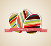 Vector retro Paper easter egg card — Vector de stock