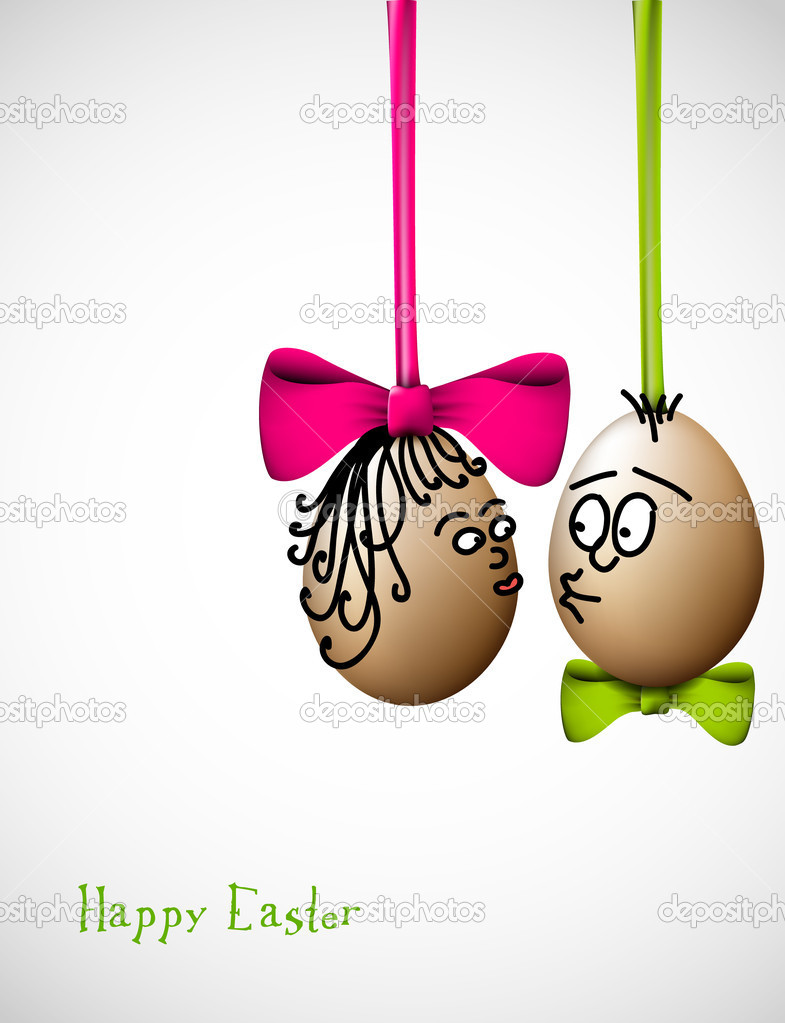 Funny easter cards comousar funny easter cards funny easter eggs with a bow kristyandbryce Gallery