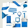 Set of Vector web elements — Vector de stock #9340078