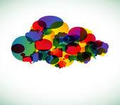 Cloud computing - vector illustration — Stock Vector
