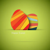 Vector green Paper easter egg card — Vector de stock