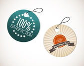 Old round retro vintage grunge tags — Stock Vector