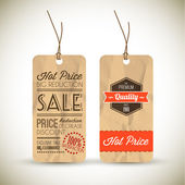 Old retro vintage grunge tags — Vettoriale Stock