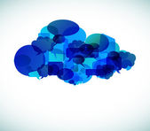 Le cloud computing - vector illustration — Vecteur