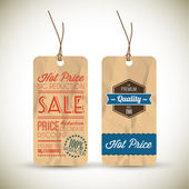 Old retro vintage grunge tags — Stock Vector