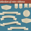 Stock Vector: Collection of vector retro ribbons and tags
