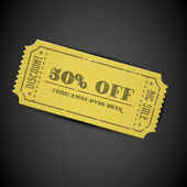 Yellow Vector vintage sale coupon — Stock Vector