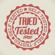 Vector retro self tried and tested stamp - Image vectorielle