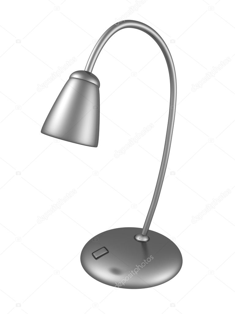 Metal shiny desk lamp on white background — Stock Photo #8855920
