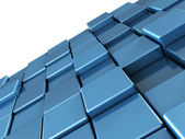 Abstract blue shiny cubes background — Stock Photo