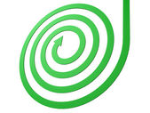 Green spiral arrow business motion concept — Stock Photo