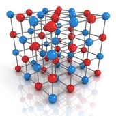 Abstract render of network structure concept with red and blue balls — Stock Photo