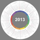 Vector calendar 2013 round — Stock Vector