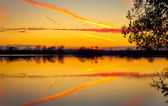 Reflection sunset — Stock Photo