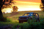 Old soviet car — Stock Photo
