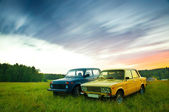 Old Soviet Cars — Stock Photo