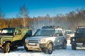 SUV on a Russian winter — Stock Photo