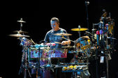 Carlos Santana's band: Karl Perazzo — Stock Photo