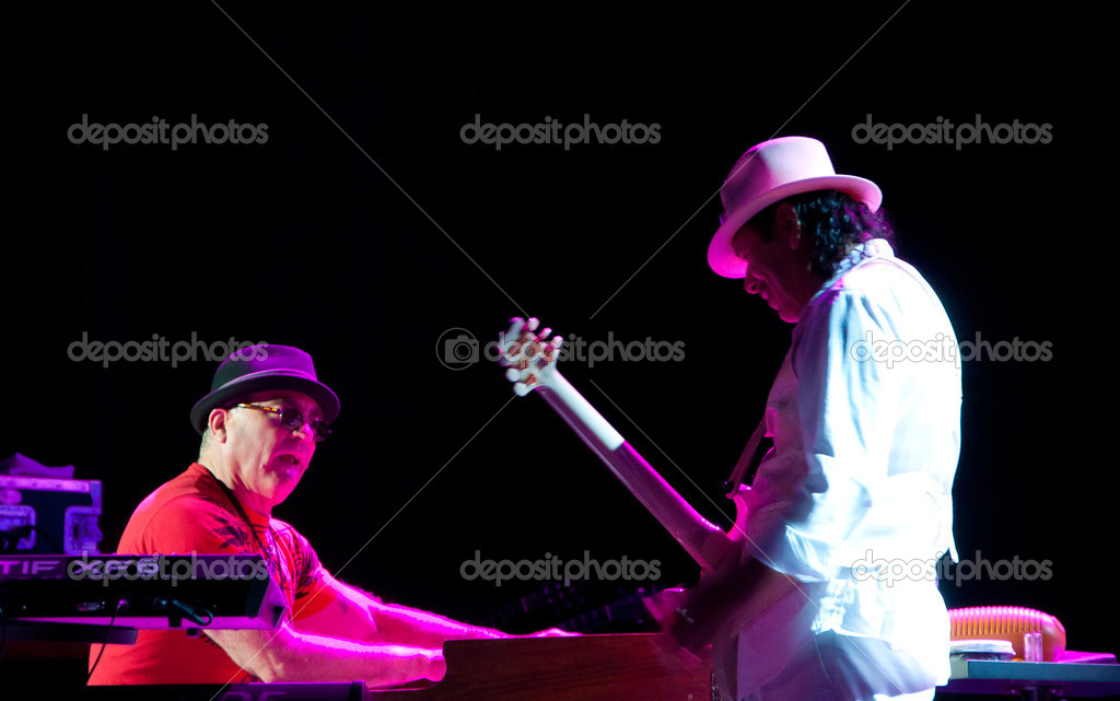 Carlos Santana concert Crocus City Hall in Moscow.  July 17, 2011  Stock Photo #8363733
