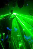 Laser party — Stock Photo