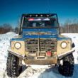 Stock Photo: Land Rover Defender front