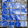 Broken azulejo tile — Stock Photo