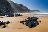 Beautiful beach in Sagres — Stock Photo