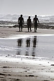 Three silhouettes — Stock Photo