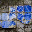 Broken azulejo tile — Stock Photo #8967278