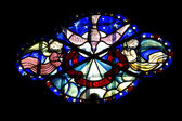 Religious stained glass artwork — Stock Photo