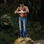 Fighter man meditating — Stock Photo