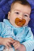 Newborn baby blue — Stock Photo