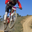 Downhill competition — Stock Photo