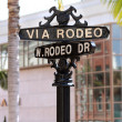 Rodeo drive street sign - Stock Photo