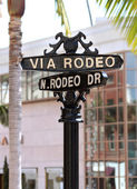 Rodeo drive street sign — Stock Photo